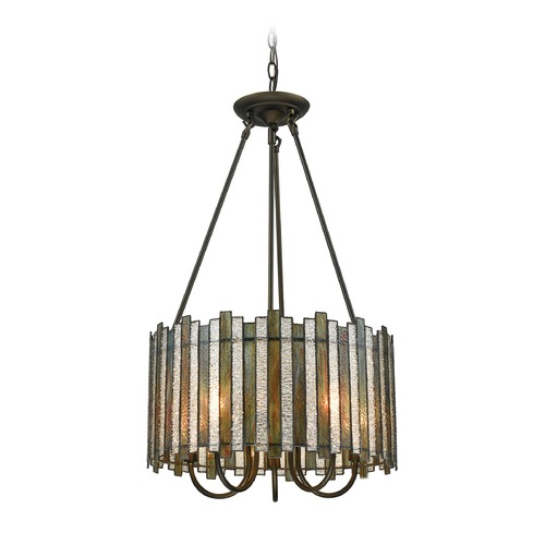 Elk Lighting Elk Lighting Lineage Oil Rubbed Bronze Pendant Light with Drum Shade 72135/5