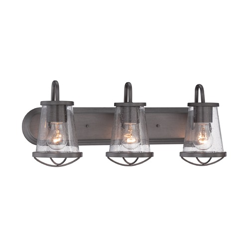 Designers Fountain Lighting Designers Fountain Darby Weathered Iron Bathroom Light 87003-WI