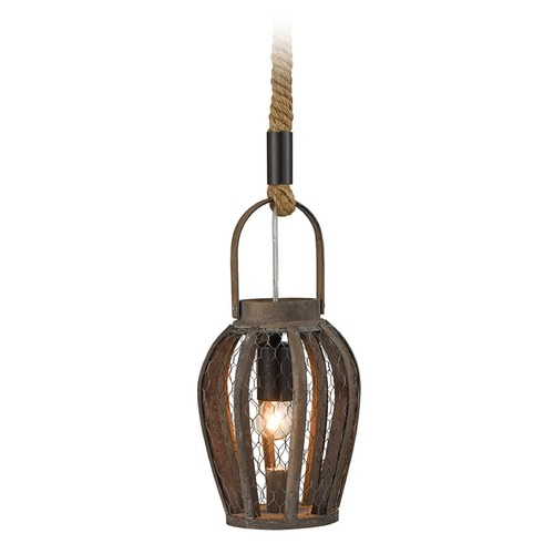 Dimond Lighting Dimond Swift's Row Dark Stained Wood Mini-Pendant Light with Bowl / Dome Shade D3109