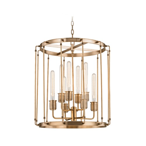 Hudson Valley Lighting Hudson Valley Lighting Hyde Park Aged Brass Pendant Light 9722-AGB