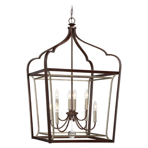 Minka Lavery Minka Lavery Astrapia Dark Rubbed Sienna with Aged Silver Pendant Light 4349-593