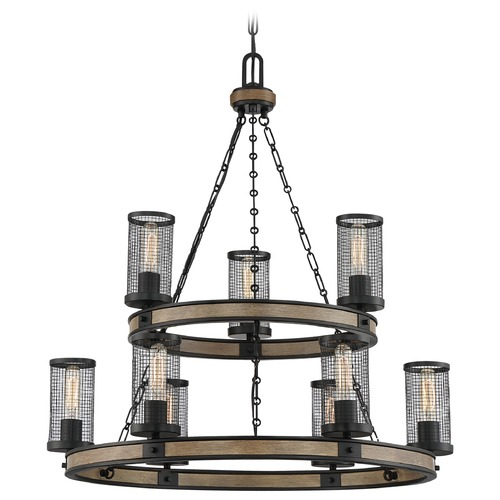 Quoizel Lighting Quoizel Lighting Mccrady Matte Black with Painted Wood Accents Chandelier MCY5030MBK