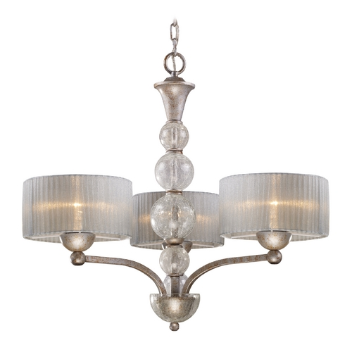 Elk Lighting Modern Chandelier with Silver Shade in Antique Silver Finish 20008/3