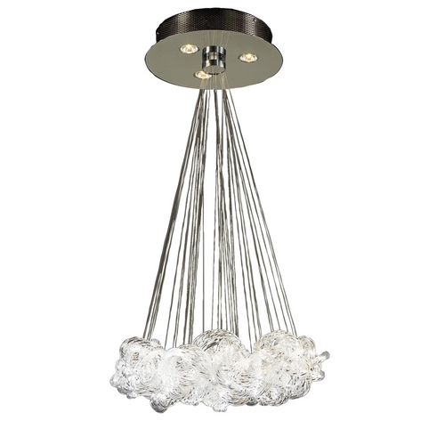 PLC Lighting Modern Pendant Light in Polished Chrome Finish 96975 PC