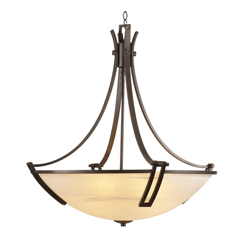 PLC Lighting Modern Pendant Light with White Glass in Oil Rubbed Bronze Finish 14866 ORB