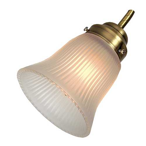 Craftmade Lighting Ribbed Glass Flare Bell Shade - 2-1/4-Inch Fitter Opening CR 231