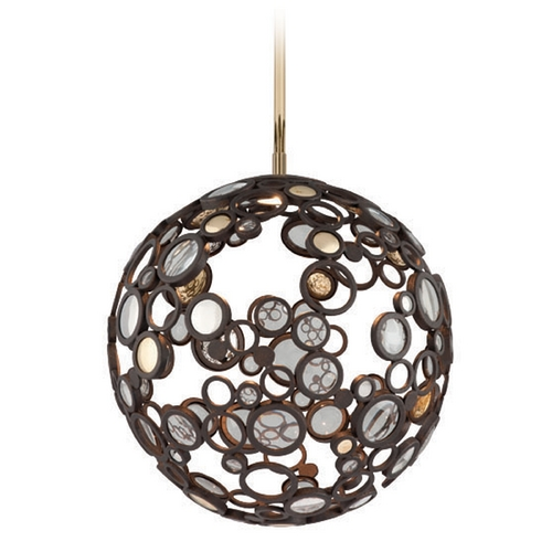 Corbett Lighting Corbett Lighting Bronze LED Pendant Light with Globe Shade 188-41