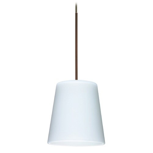 Besa Lighting Besa Lighting Canto Bronze LED Mini-Pendant Light with Conical Shade 1XT-513107-LED-BR