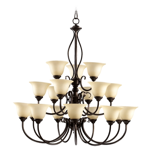 Quorum Lighting Quorum Lighting Spencer Oiled Bronze Chandelier 6010-18-86