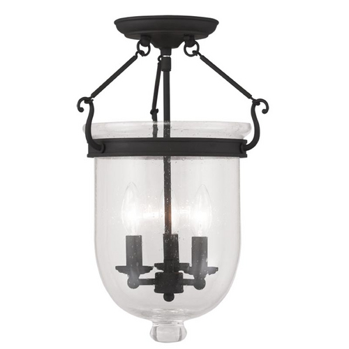 Livex Lighting Livex Lighting Jefferson Black Semi-Flushmount Light 5082-04
