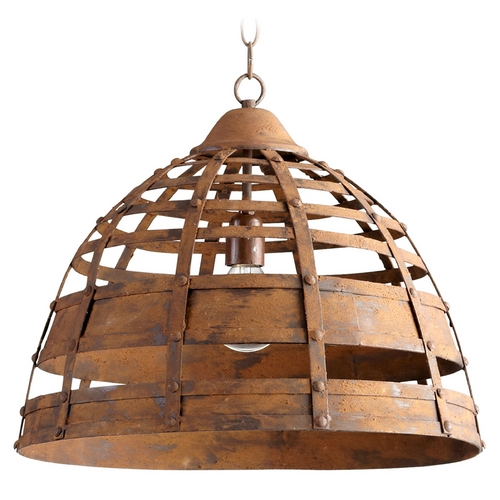 Cyan Design Cyan Design Palma Rustic Pendant Light with Bowl / Dome Shade 05315