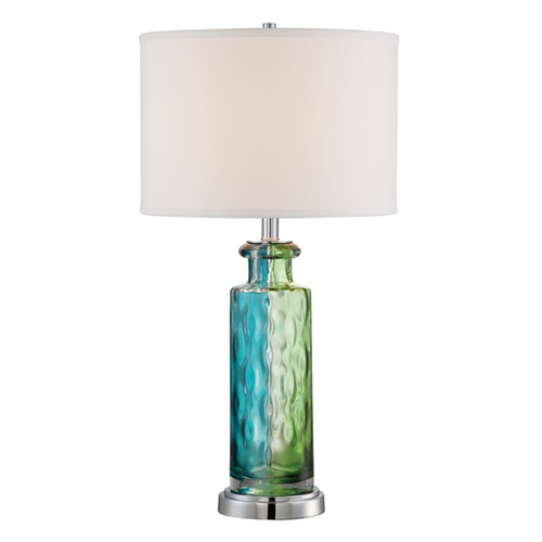 Lite Source Lighting Lite Source Tynice Chrome / Multi Table Lamp with Drum Shade LS-22852MULTI