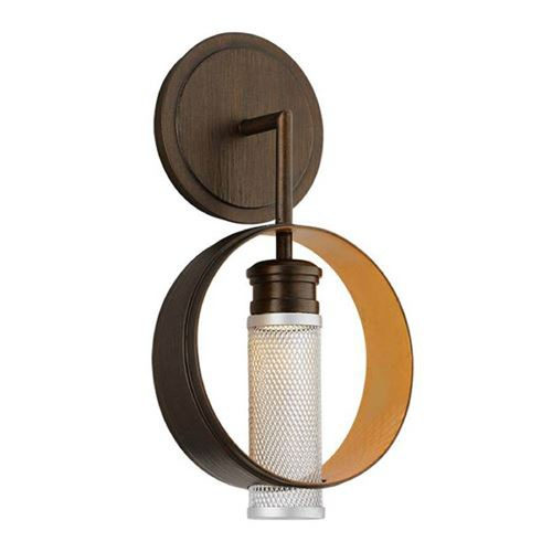 Troy Lighting Troy Lighting Insight Modern Bronze with Gold Leaf LED Sconce BL4891