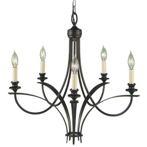 Feiss Lighting Chandelier in Oil Rubbed Bronze Finish F1888/5ORB