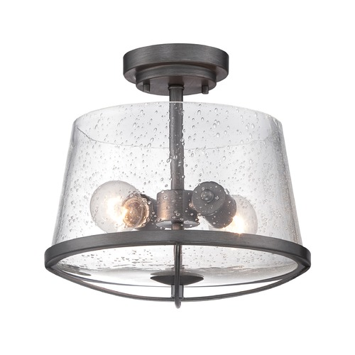 Designers Fountain Lighting Designers Fountain Darby Weathered Iron Semi-Flushmount Light 87011-WI