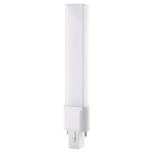 Satco Lighting Satco 4.5 Watt LED PL 2-PIN 3500K 450 Lumens G23 Base 360 deg. Beam Angle 120-277 Volt S18402
