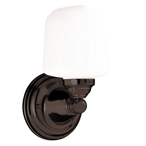 Hudson Valley Lighting Sconce with White Glass in Old Bronze Finish 221-OB