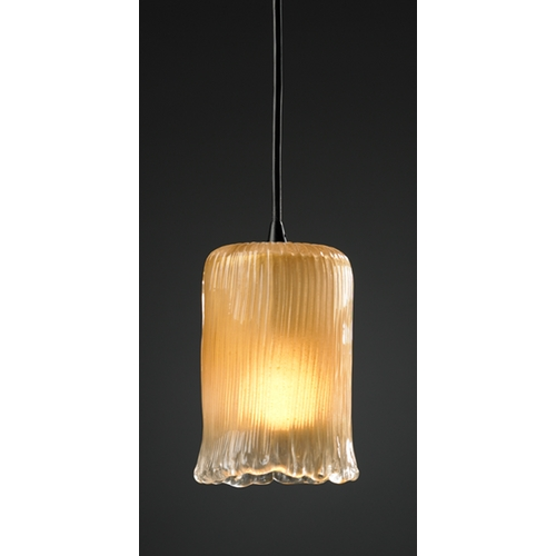 Justice Design Group Justice Design Group Veneto Luce Collection Mini-Pendant Light GLA-8815-16-GLDC-MBLK