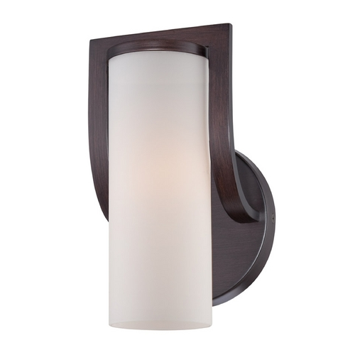 Nuvo Lighting Sconce Wall Light with White Glass in Russet Bronze Finish 60/5231