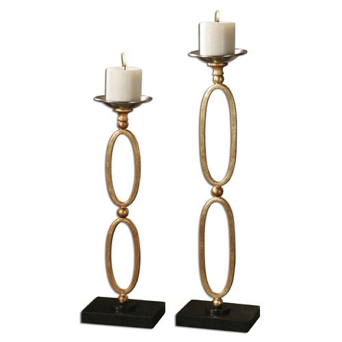 Uttermost Lighting Uttermost Lauria Chain Link Candleholders Set of 2 19830