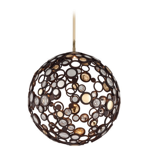 Corbett Lighting Corbett Lighting Bronze LED Pendant Light with Globe Shade 188-42