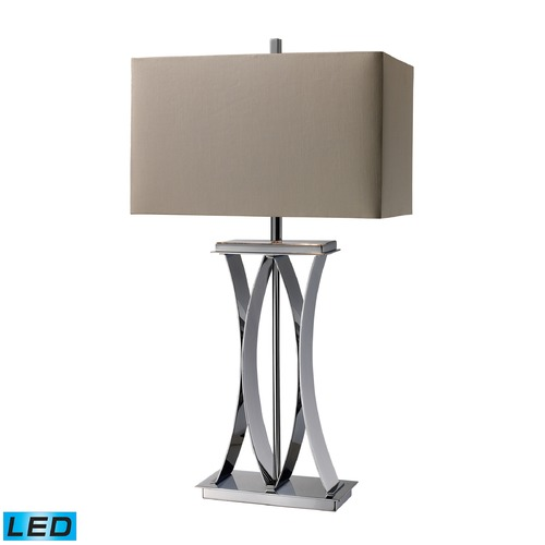 Dimond Lighting Dimond Lighting Chrome LED Table Lamp with Rectangle Shade D1801-LED