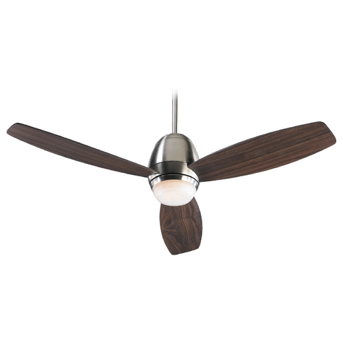 Quorum Lighting Quorum Lighting Bronx Satin Nickel Ceiling Fan with Light 42523-65