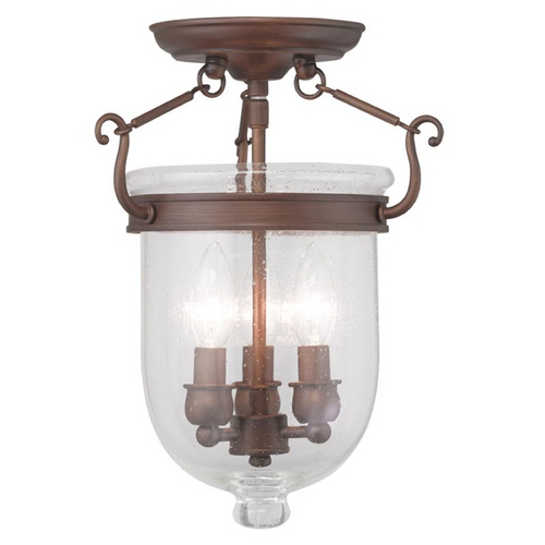Livex Lighting Livex Lighting Jefferson Vintage Bronze Semi-Flushmount Light 5081-70