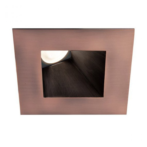 WAC Lighting WAC Lighting Square Copper Bronze 3.5-Inch LED Recessed Trim 3000K 1045LM 26 Degree HR3LEDT918PN830CB