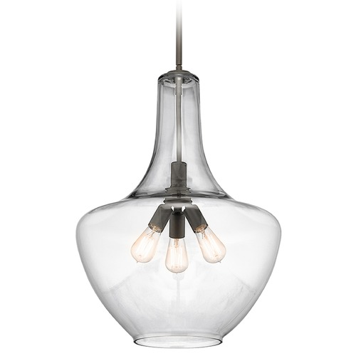 Kichler Lighting Kichler Lighting Everly Pendant Light with Bowl / Dome Shade 42198OZ