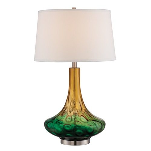 Lite Source Lighting Lite Source Valtina Chrome / Multi Table Lamp with Drum Shade LS-22856