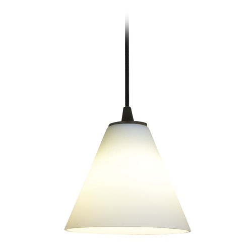 Access Lighting Access Lighting Martini Oil Rubbed Bronze LED Mini-Pendant Light with Conical Shade 28004-4C-ORB/WHT