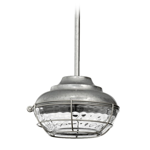 Quorum Lighting Quorum Lighting Hudson Galvanized Mini-Pendant Light 8374-9