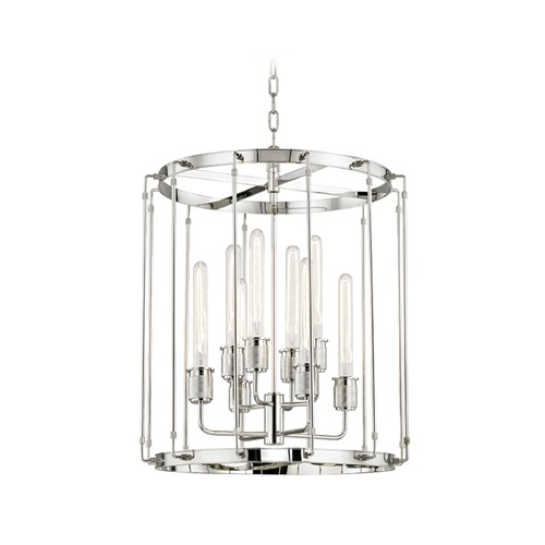 Hudson Valley Lighting Hudson Valley Lighting Hyde Park Polished Nickel Pendant Light 9722-PN