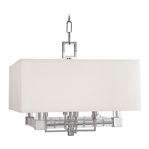 Hudson Valley Lighting Hudson Valley Lighting Alpine Polished Nickel Pendant Light with Rectangle Shade 7120-PN