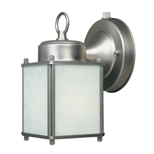 Designers Fountain Lighting Outdoor Wall Light with Amber Glass in Rust Patina Finish ES1161-PW