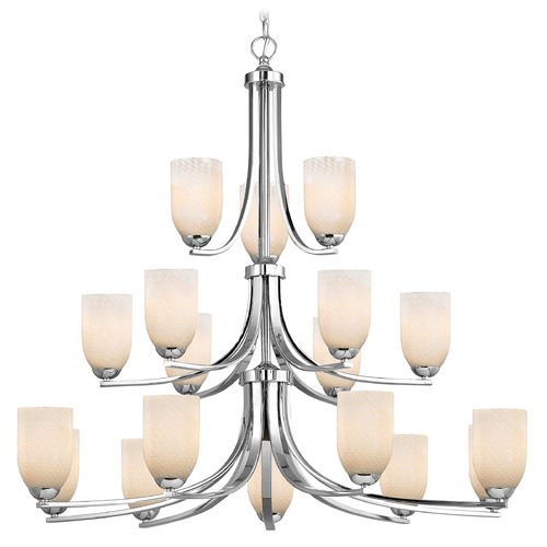 Design Classics Lighting Chrome Chandelier 5863-26 GL1020D