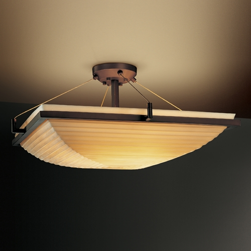 Justice Design Group Justice Design Group Porcelina Collection Semi-Flushmount Light PNA-9781-25-SAWT-DBRZ