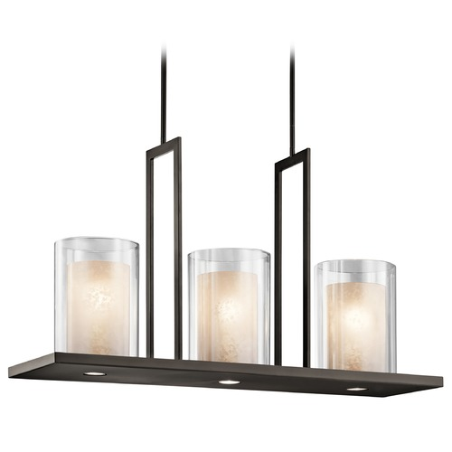 Kichler Lighting Kichler Lighting Triad Olde Bronze Island Light with Cylindrical Shade 42548OZ