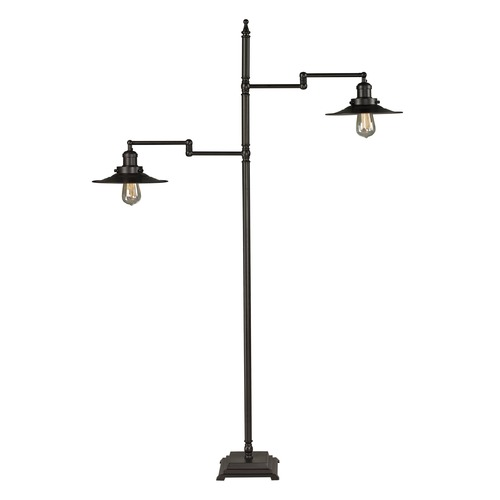 Dimond Lighting Dimond Lighting Oil Rubbed Bronze Floor Lamp with Coolie Shade D2443