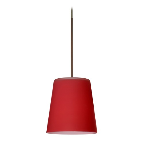Besa Lighting Besa Lighting Canto Bronze LED Mini-Pendant Light with Conical Shade 1XT-513131-LED-BR