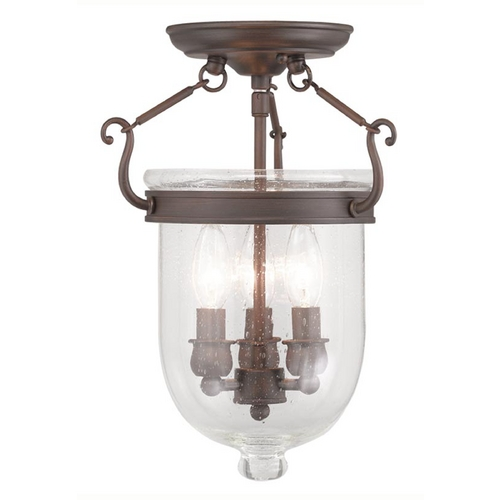 Livex Lighting Livex Lighting Jefferson Imperial Bronze Semi-Flushmount Light 5081-58
