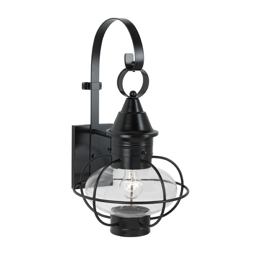 Norwell Lighting Norwell Lighting Vidalia Onion Black Outdoor Wall Light 1612-BL-CL