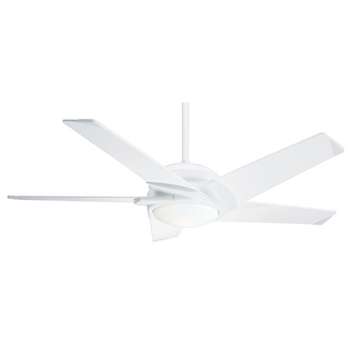 Casablanca Fan Co Casablanca Fan Co Stealth Dc Snow White LED Ceiling Fan with Light 59165