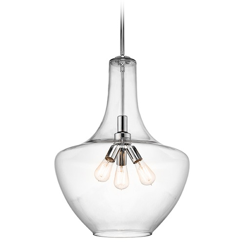 Kichler Lighting Kichler Lighting Everly Pendant Light with Bowl / Dome Shade 42198CH
