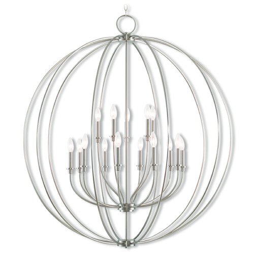 Livex Lighting Livex Lighting Milania Brushed Nickel Chandelier 46690-91