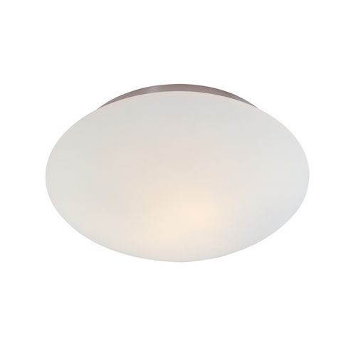 Sonneman Lighting Modern Flushmount Light with White Glass in Satin Nickel Finish 4154.13