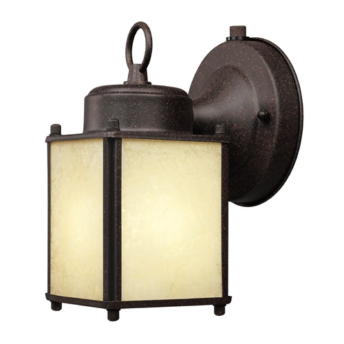 Designers Fountain Lighting Outdoor Wall Light with White Glass in Black Finish ES1161-RP