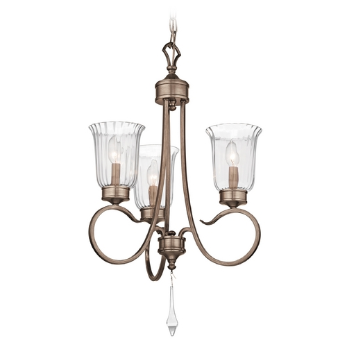 Kichler Lighting Kichler Mini-Chandelier with Clear Glass in Silver / Gold Finish  43237BRSG