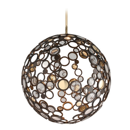 Corbett Lighting Corbett Lighting Bronze Pendant Light with Globe Shade 188-44